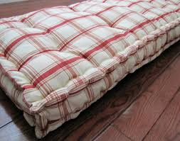daybed custom bench cushion red plaid window stunning tufted