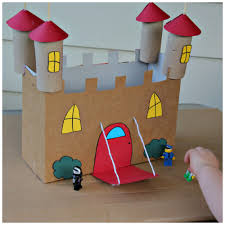 recycled cardboard castle craft kids stuff pinterest