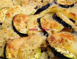 site de cuisine marocaine gratin de courgettes aux pommes de terre