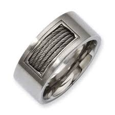 stainless steel mens rings men s dual finish stainless steel wire ring jewelry gemologica