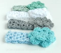 crochet headbands for babies grow creative baby girl crochet headbands