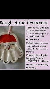 salt dough santa handprint ornaments 1 2 cup salt 1 2 cup flour