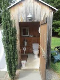 outdoor bathrooms ideas above outhouse chic it seems strange but perhaps one might want