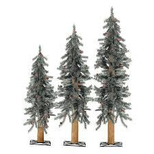 sterling 3 pre lit artificial alpine tree set