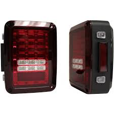 jeep wrangler 4 door maroon jeep parts buy crown automotive led jeep tail lights with red lens