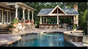 Backyard Designs With Pool And Outdoor Kitchen YouTube - Backyard designs with pool and outdoor kitchen