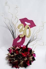 30th birthday flowers and balloons faux styrofoam balloons birthday centerpiece with metallic tissue