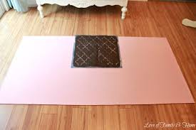 Can I Paint My Laminate Floor How To Paint A Rug Using Vinyl Flooring Love Of Family U0026 Home
