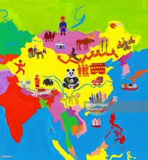 Mongolia Map Illustrated Map Of China Mongolia And Taiwan Stock Illustration