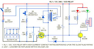 glow plug timer circuit diagram circuit and schematics diagram