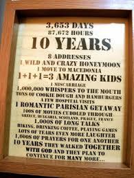 ten year anniversary ideas 10th anniversary gift 10th anniversary poster 10th wedding