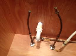 install new faucet with compression fittings to larger copper