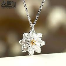 silver pendant necklace handmade images Wholesale factory 925 sterling silver necklace handmade golden jpg