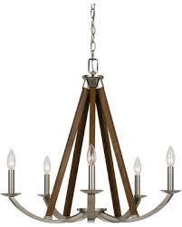 Wooden Chandelier Lighting Incredible Deal On Cal Lighting Monica Metal Wood Chandelier
