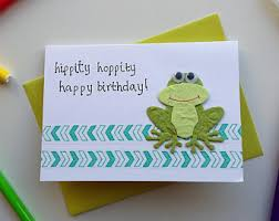 frog birthday card etsy