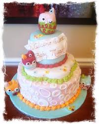 baby shower owl cakes baby owl shower tableware zutano owl baby shower cake by sugar