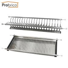 Kitchen Cabinet Plate Rack Storage Stainless Steel Dish Drying Rack For Width 765mm Kitchen Cabinet