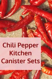 4 piece red canister sets for kitchen storage red kitchen chili pepper canister sets for kitchens