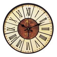 Amazon Mantle Clock Yesurprise Pendule Murale En Bois Mdf Rond Horloge Diy Vintage