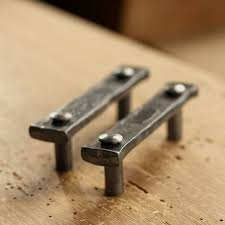 install wrought iron cabinet pulls