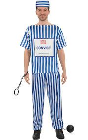 value fancy dress male convict costume jokers masquerade