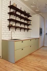 bespoke kebony kitchen shelves kebony