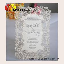 invitation printing services printing service laser cut invitation cards models menu card 20pcs