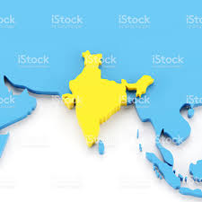 World Map Of India by 3d Map Of India Stock Photo 173838344 Istock