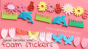 patterning with foam stickers