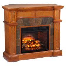 Infrared Electric Fireplaces by Sei Fi9285 Cartwright Corner Faux Stone Infrared Fireplace Oak