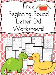 beginning sounds letter d worksheets free and fun