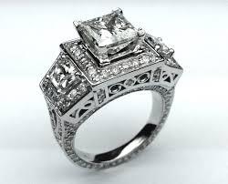 vintage square engagement rings diamonds striking vintage square cut engagement rings