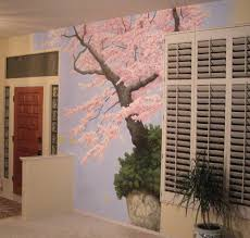 exciting wall decoration with cherry blossom wall mural exciting wall decoration with cherry blossom wall mural
