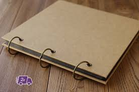 expandable blank kraft hardcover scrapbook diy photo album