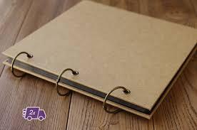 expandable blank kraft hardcover scrapbook diy photo album