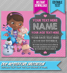 doc mcstuffins birthday invitations cimvitation