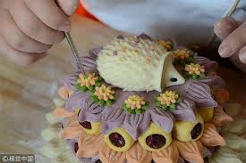 flower cakes artisan makes flower cakes for new year chinadaily cn