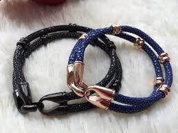 gift men bracelet images Fashion design men luxury gift handmake genuine stingray mens gold jpg