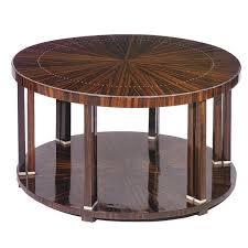 Art Deco Coffee Table by Art Deco Coffee Table Macassar Ebony Round Tb109a By Jacques
