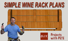 Diy Wood Wine Rack Plans by Simple Wine Rack Plans