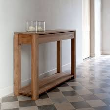 traditional wooden sofa table designed in very narrow size set on