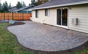 Images Of Paver Patios Paver Patio Fence In South Olympia Ajb Landscaping Fence