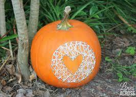 Decorate Pumpkin Pumpkin String Art Lines Across