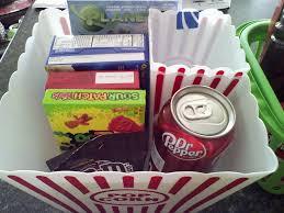 Movie Themed Gift Basket 72 Best Movie Night Gift Baskets Images On Pinterest Movie Night