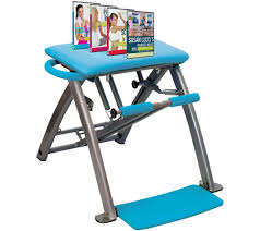 pilates pro chair with 4 dvds by life u0027s a beach page 1 u2014 qvc com