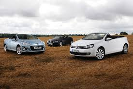peugeot cabriolet 308 volkswagen golf cabriolet vs rivals group tests auto express