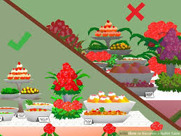 how to decorate a buffet table with pictures wikihow