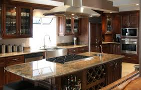 kitchen designs with dark cabinets brown walnut portable island