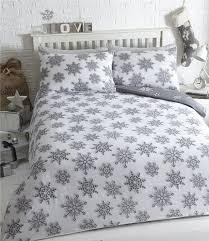 Winter Duvet King Size King Size Duvet Set Grey Christmas Bedding Winter Wonderland Quilt