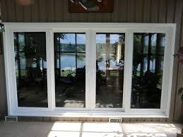Vinyl Doors Exterior 4 Panel Sliding Glass Door Pella Patio Doors With Blinds